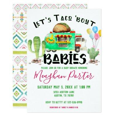 Let's Taco Bout Babies Baby Shower Invitations