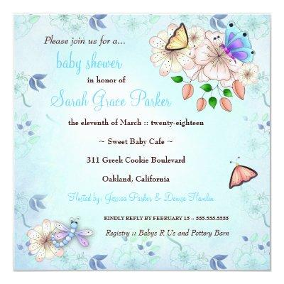 LGC | Garden Baby Shower Blue #2 Invitations