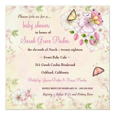 LGC Garden Baby Shower Invitation