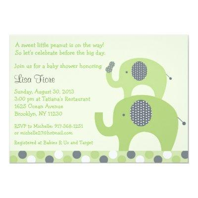 Lil Peanut Elephant Invitations