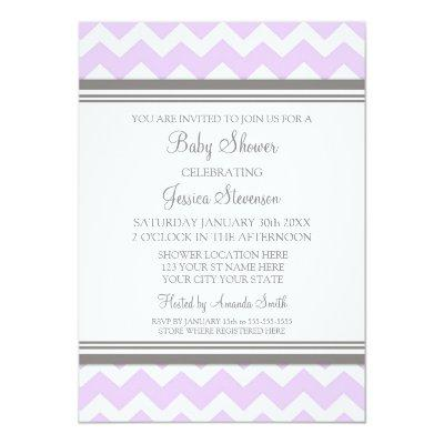 Lilac Gray Chevron Custom