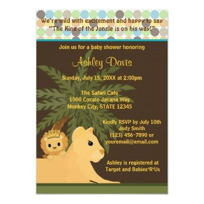Lion Invitations Baby Shower Invitations Baby Shower Invitations