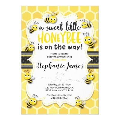 Little Bee on the Way | Bee Baby Shower Invitations