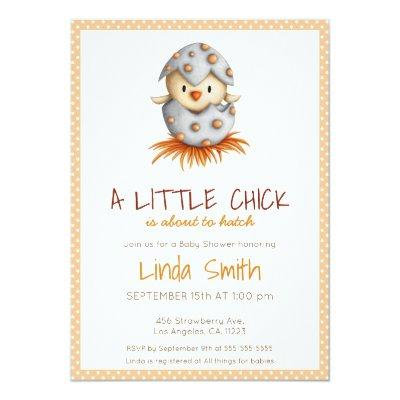 Little chick neutral baby shower Invitations