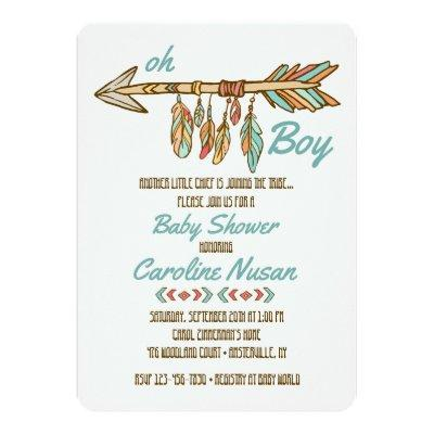 Little Chief Baby Shower Invitation