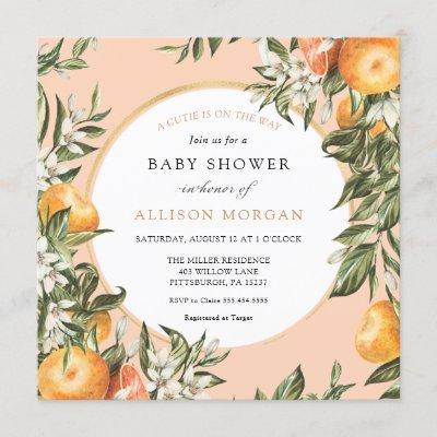 Little Cutie Baby Shower Invitation