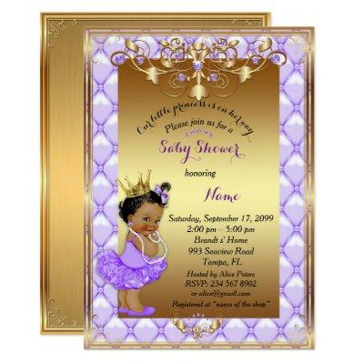 Little etnic Princess, Baby Shower Invitations,gold Invitations