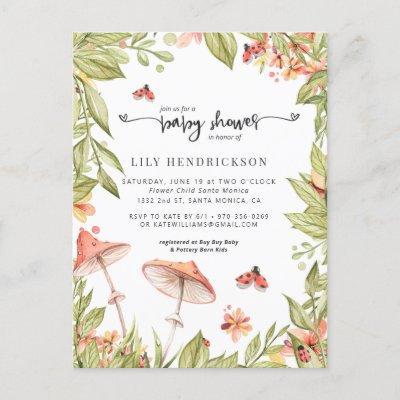 Little Ladybug   Spring Baby Shower Invitation