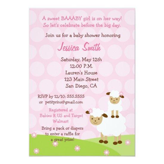 Little lamb baby shower invitations little lamb filmwisefo Choice Image