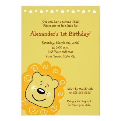 Little Lion Baby Shower Invitations – Lion Birthday Invitations