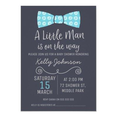 Little Man Bow Tie Invitations