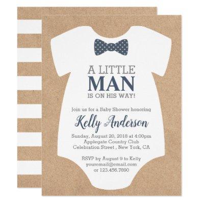 Little Man Boy  - Kraft Invitations