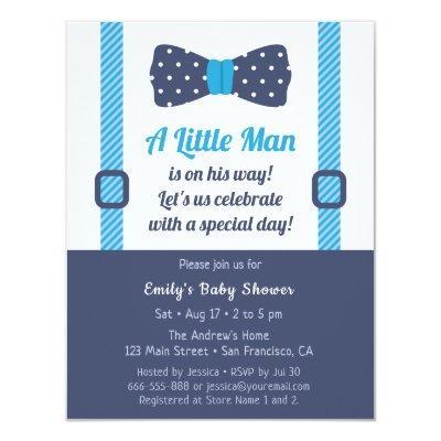 Little Gentleman Baby Shower Invitations Baby Shower Invitations