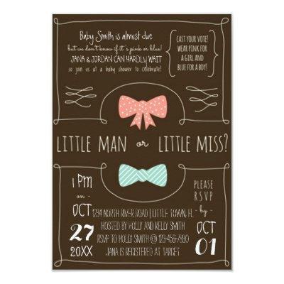 Little Man or Little Miss? Invitation