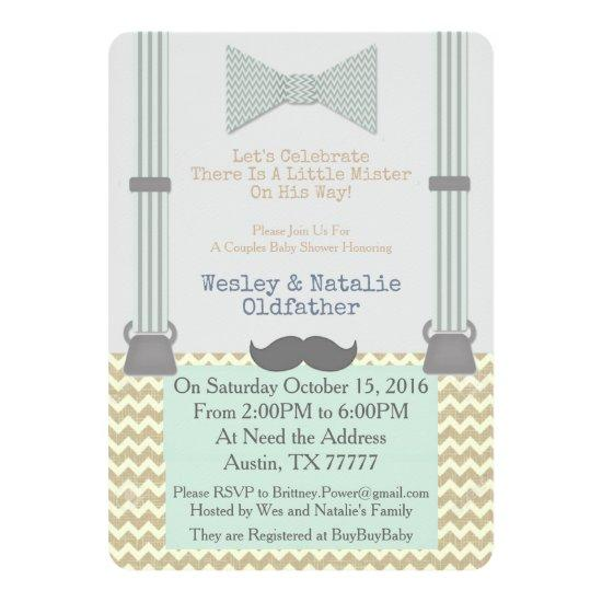 Little Mister BabyShower Invite
