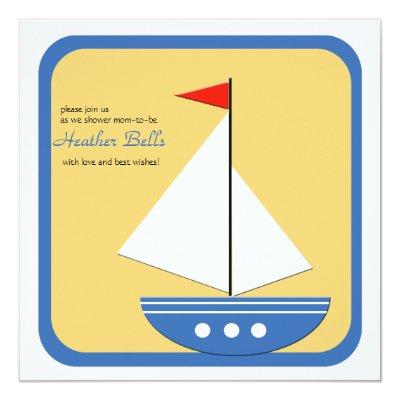 Little Navigator - Baby Shower Invitation