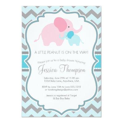 Little Peanut Baby Shower Invitations