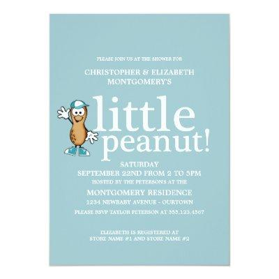 Little Peanut (Blue) Invitations