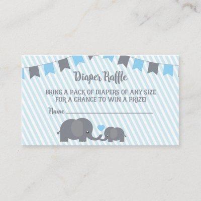Little Peanut Diaper Raffle Card Insert for Invite