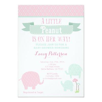 Little Peanut, Elephant Invitations