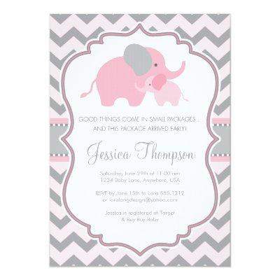 Little Peanut Elephant Invitations