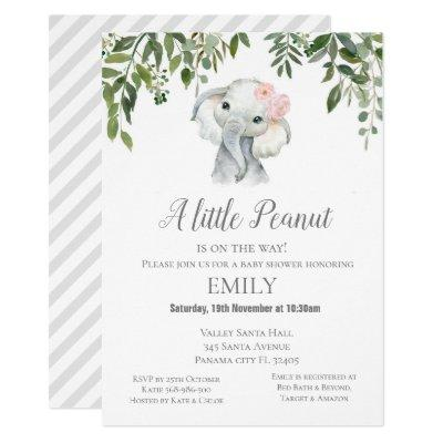 Little Peanut Elephant Invitation - Baby Shower