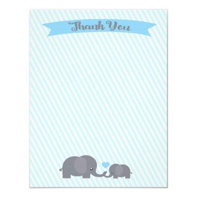 Little Peanut Elephant Thank You note Invitations