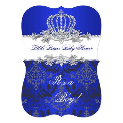 baby shower little prince crown baby shower invitations | baby, Baby shower invitations