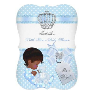Little Prince Baby Shower Cute Boy Spot A Invitation