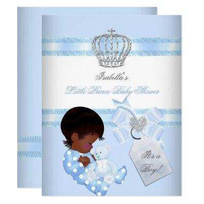 Little Prince Baby Shower Cute Boy Toy Bear A Invitations