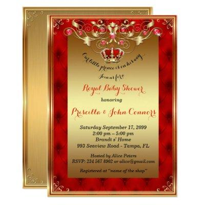 Little Prince ,gold,red Invitations
