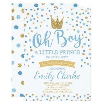 Little Prince Baby Shower Invitation Royal Shower