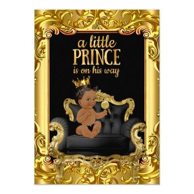 Little Prince on Throne Ethnic Invitations