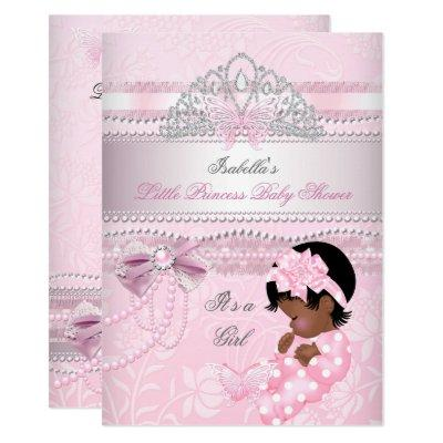 Little Princess Baby Shower Girl Butterfly AA Invitation