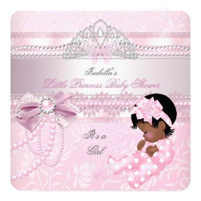 Little Princess Baby Shower Girl Butterfly AA Invitations