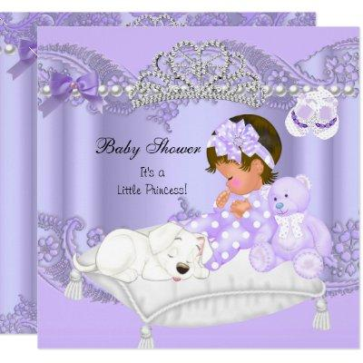 Little Princess Baby Shower Girl Lavender Purple Invitation