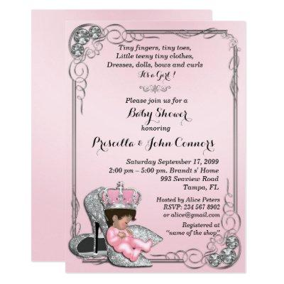 Little Princess Baby Shower Invitations,pink Invitations