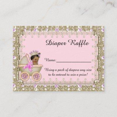 Little Princess Diaper Raffle Tickets, carriage Enclosure Card
