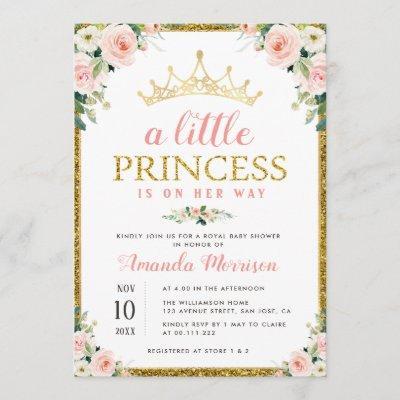 little princess girl baby shower invitation