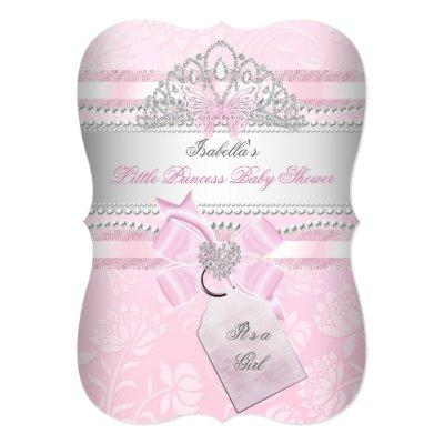 Little Princess Pretty Girl Butterfly Invitations