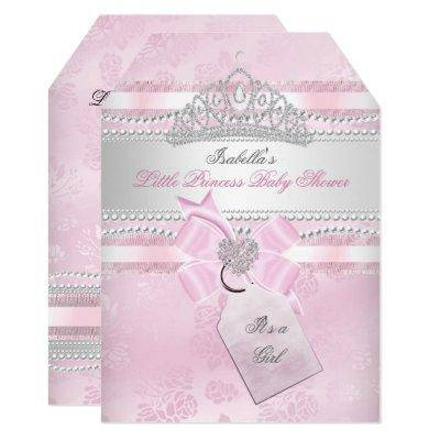Little Princess Pretty Baby Shower Girl Pearl Invitation