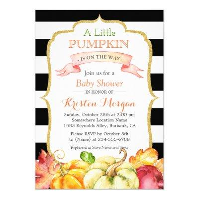 Little Pumpkin Autumn Stylish Fall Invitations