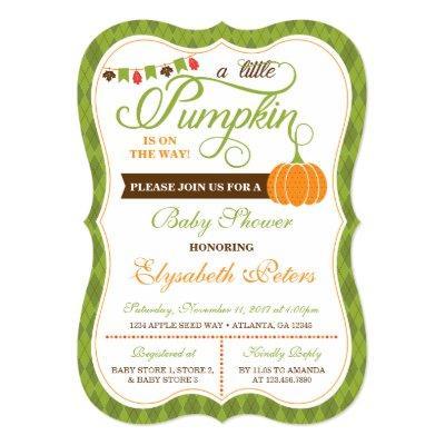 Little Pumpkin Baby Shower Invitation, Fall Invitation