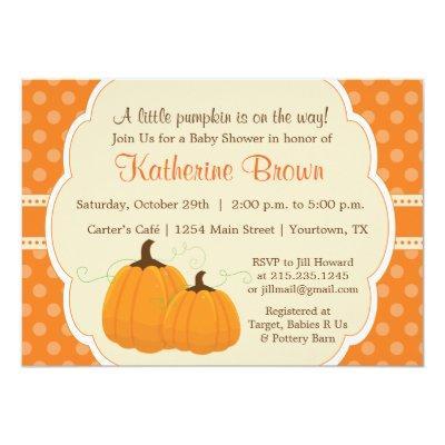 Little Pumpkin Party Invitations
