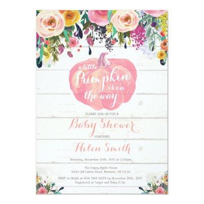 Little Pumpkin Girl  Invitations
