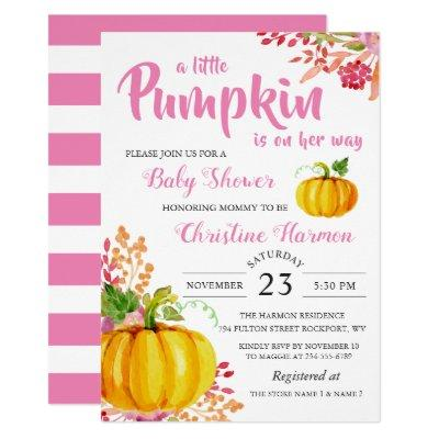 Little Pumpkin Pink Floral