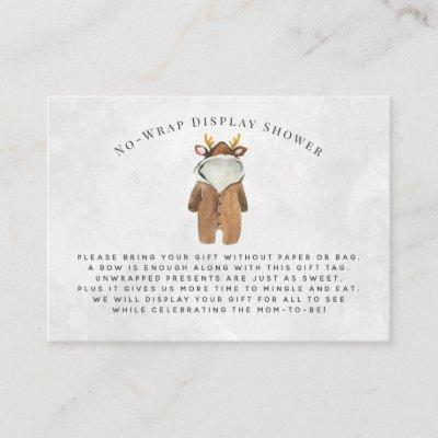 Little Reindeer | Display Shower Invitation Insert