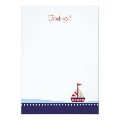 Little Sailboat Flat Thank You note Invitations