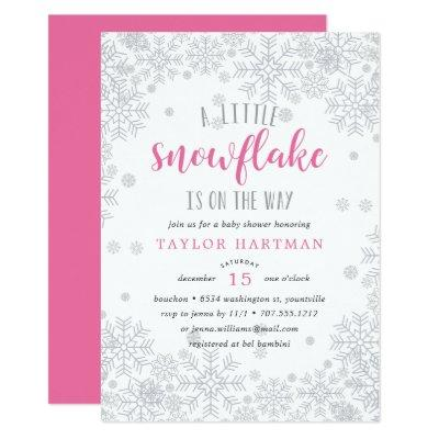 Little snowflake baby shower baby shower invitations baby shower little snowflake filmwisefo