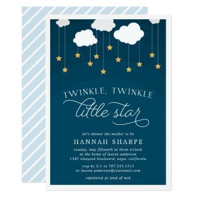Little Star Baby Shower Invitations | Navy